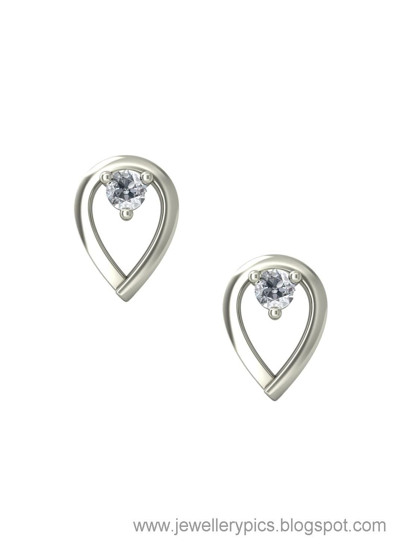 jewelry: beautiful White gold Earrings (studs)