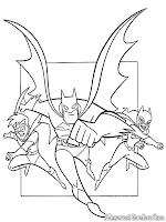 Mewarnai Gambar Batman Robin Dan Batgirl