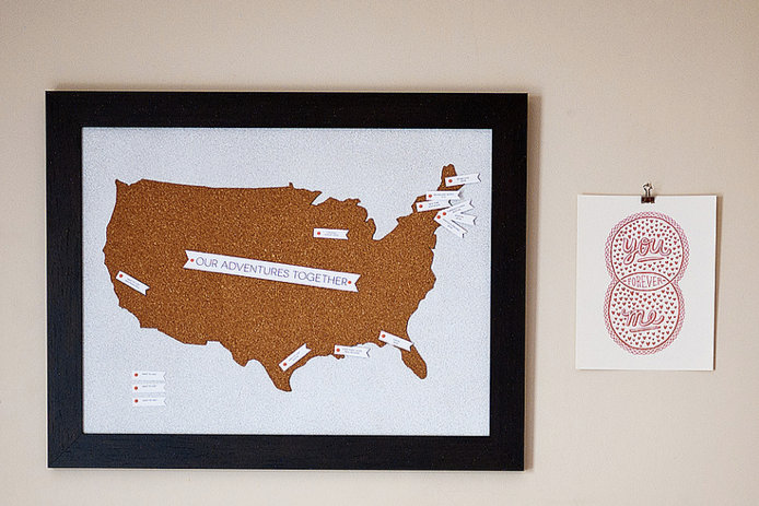 DIY Craft Project - Travel Map Pin Board DIY via Ciera Design - DIY Craft Blog Round Up