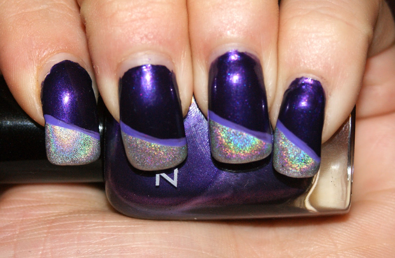 Princess polish hump day holo space girl nails for Outer space nail design
