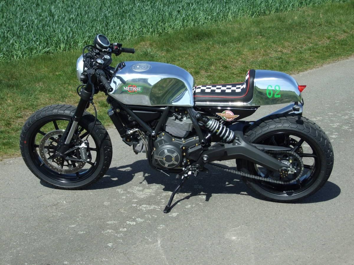 Racing Caf U00e8  Ducati Scrambler Caf U00e8 Racer By Metisse