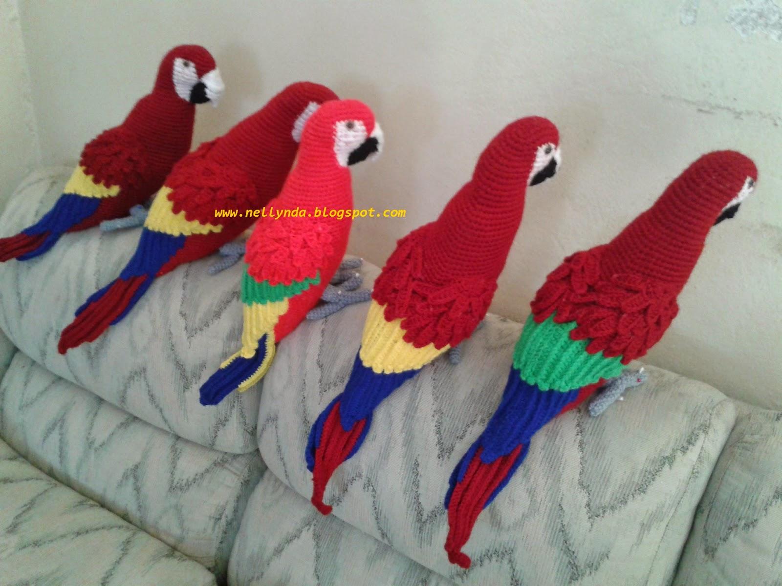Креатив своими руками вязаные попугайчики 68