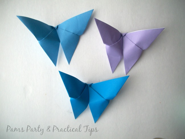 How to make Paper  Origami Butterflies for a Cinderella Party
