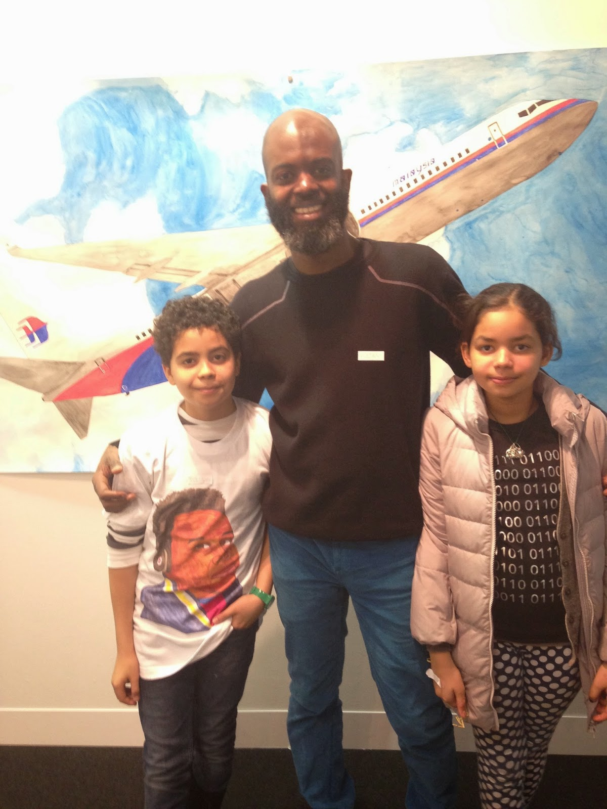 me and the kids at my Volta show with Mixed Greens Gallery
