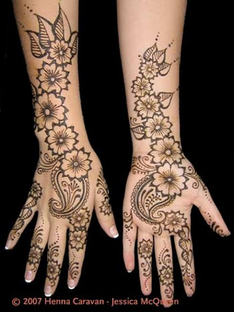 Arabic Mehndi Hand Designs