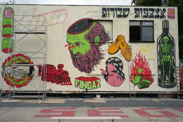 Holocaust Inspired Street Art Mural By Israeli Crew Broken Fingaz On The Streets Of Berlin, Germany 5