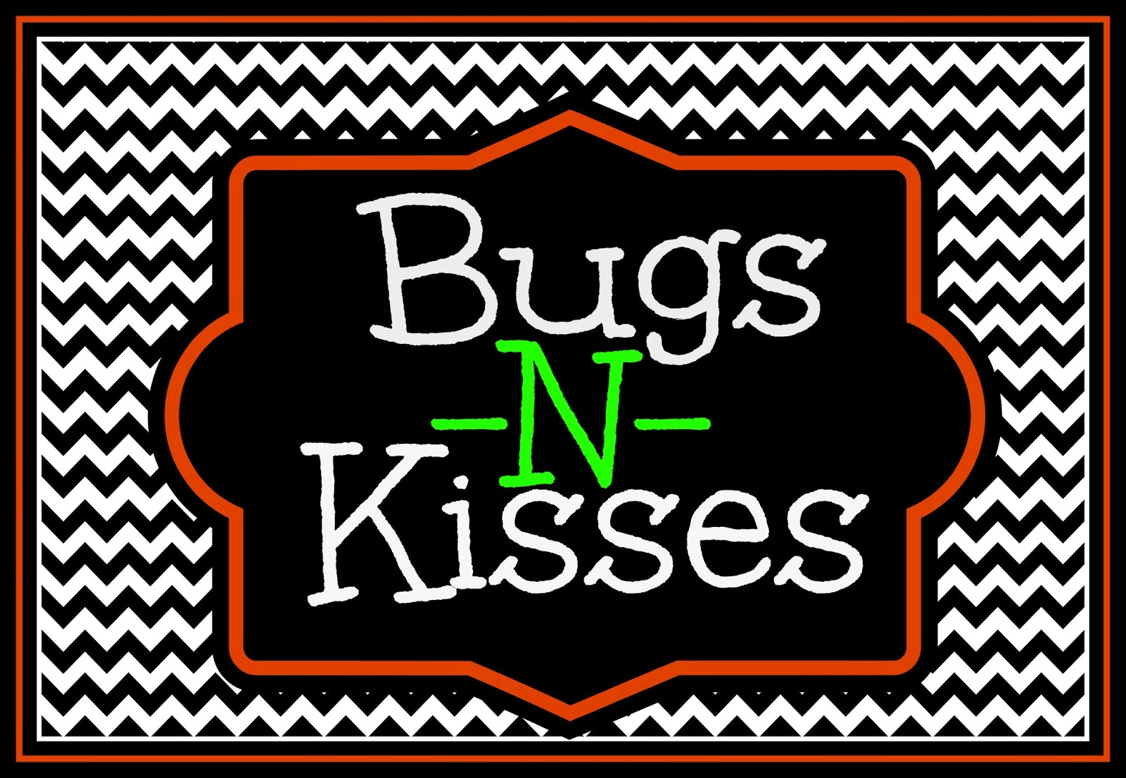 It is an image of Soft Bugs and Kisses Free Printable