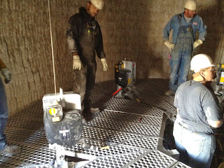 Vertical Lime Kiln Utilizes New Suspended Work Platform