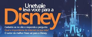"""Concurso Cultural """"Unetvale leva você para a Disney"""""""
