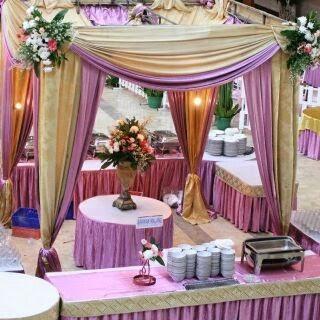 pembuat tenda pesta | dekorasi | pelaminan: sarung kursi