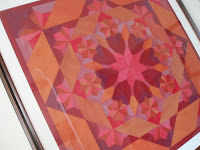 Oakshott Rubies Wall hanging quilt