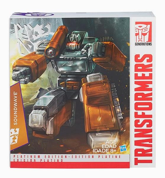 JUGUETES - TRANSFORMERS  Edición Platino : Platinum Edition  Soundwave | Figura - Muñeco  Producto Oficial 2015 | Hasbro B0770 | A partir de 8 años