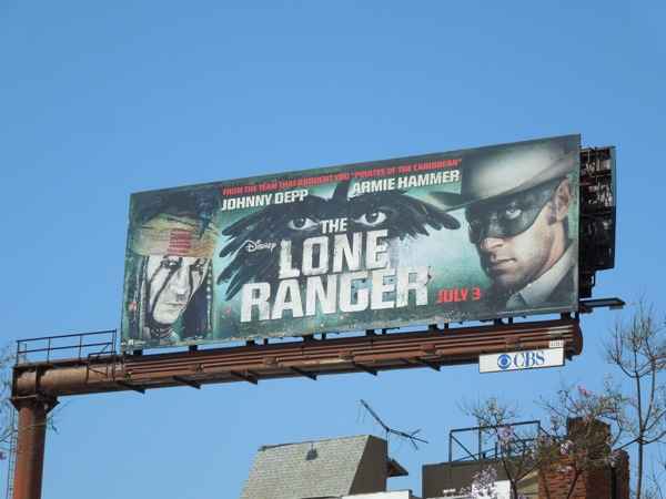 Disney Lone Ranger billboard