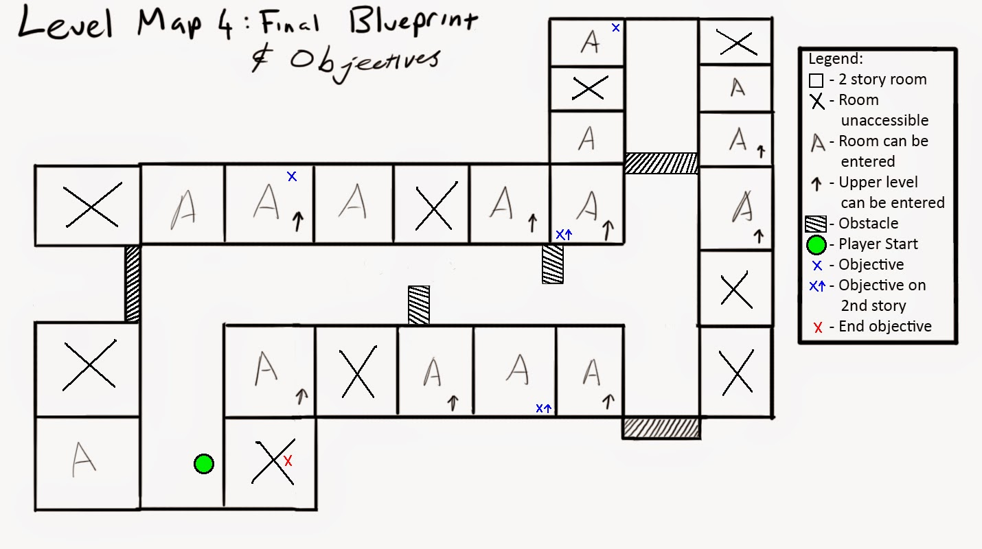 Justin pozzebon 6103289014 game design week 4 creating a a blue cross x the final objective is shown via a red cross x if there is an arrow beside the cross it depicts that the objective is on the level malvernweather Choice Image
