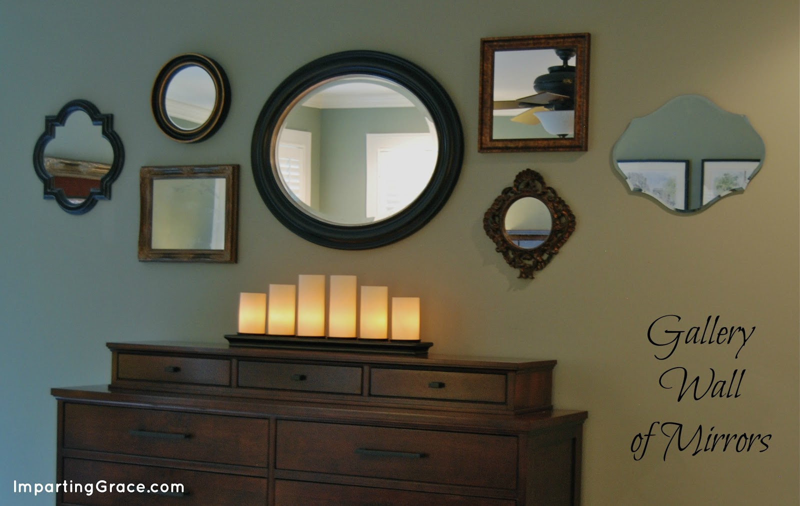 Gallery wall of mirrors for the home pinterest for Mirror on a wall