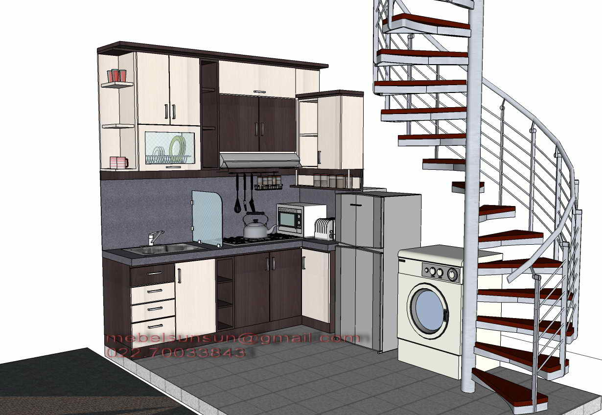 Contoh desain dapur mebel minimalis for Cara bikin kitchen set