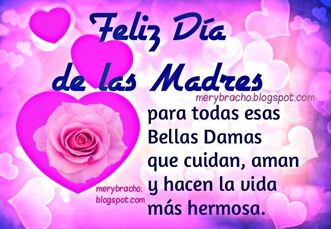 Tarjeta Feliz Día de las Madres mayo, imágenes felicidades a mamá  dedicatoria  mensaje cristiano.