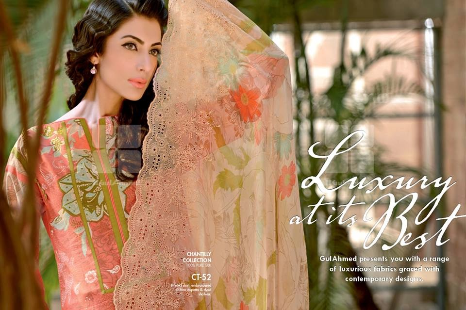 GulAhmedNewCollection wwwfashionhuntworldblogspot 2  - Gul Ahmed Summer Dresses Collection 2014-2015