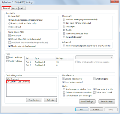 CARA SETTING JOYSTICK DI EMULATOR PS2 PCSX2 0.9.8 LAPTOP / PC