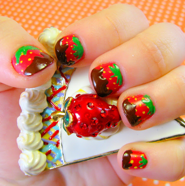polished gal nail art tutorial
