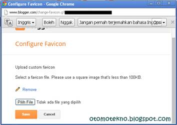 Upload icon pengganti icon default blogger.