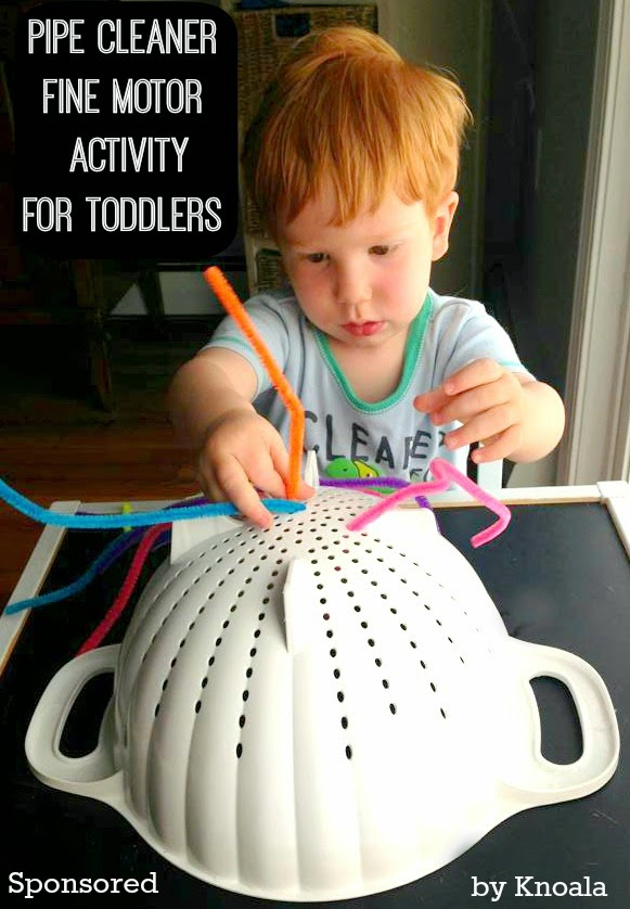 House of burke pipe cleaner fine motor activity for toddlers for Fine motor skills activities for infants