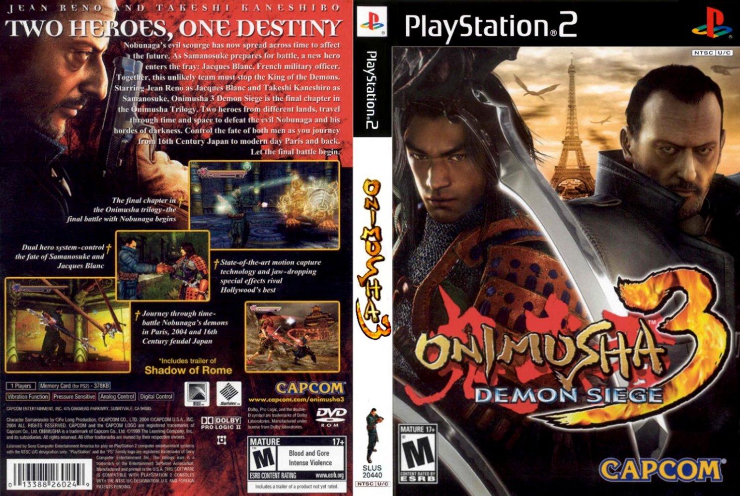 Onimusha 3: Demon Siege - PS2 | NTSC
