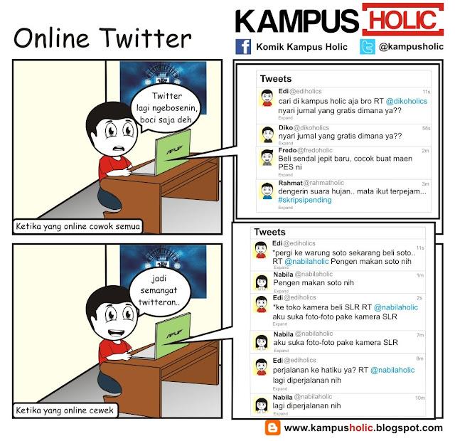 #192 Online Twitter ala mahasiswa universitas komik kampus holic