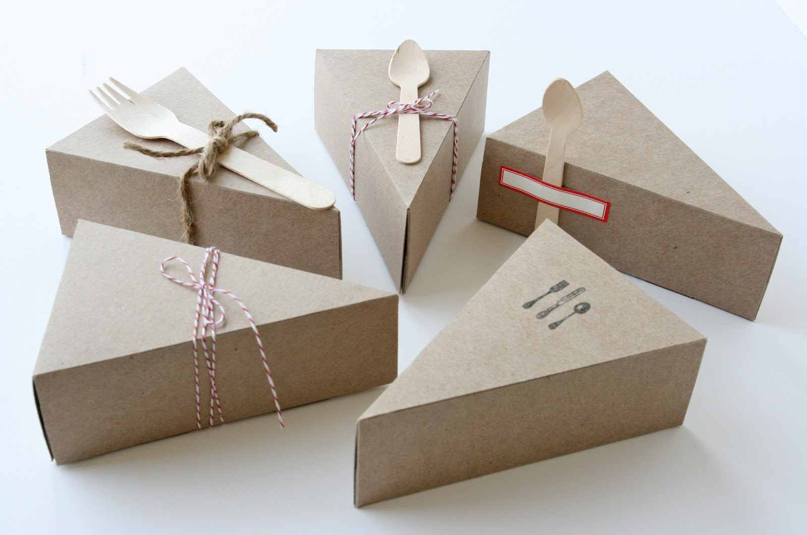 Wedding Cake Slice Boxes For Guests Alternative