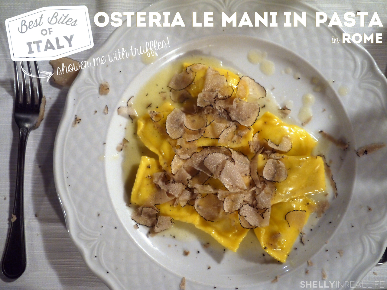 Best Bites Of Rome Osteria Le Mani In Pasta Showered With - The best places to eat in rome