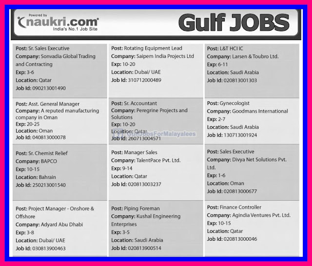 naukri gulf jobs new vacancies - offshore jobs