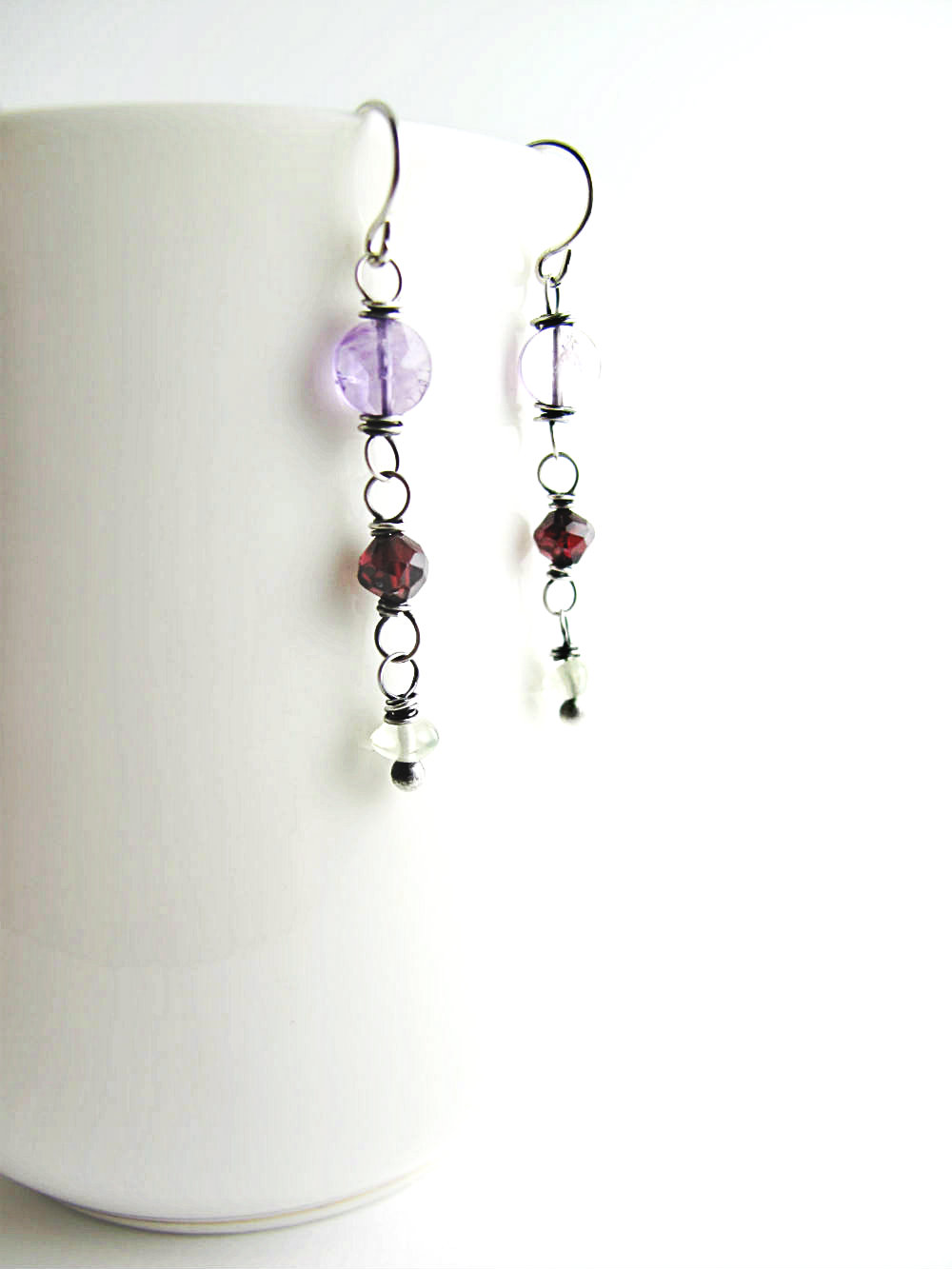 One of a Kind Earrings Alpine Meadows by Beth Hemmila