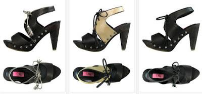 Sandalias de piel negras