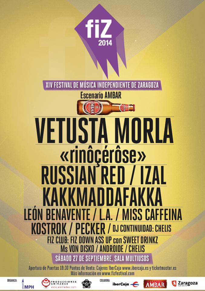 Cartel FIZ 2014 Festival Zaragoza