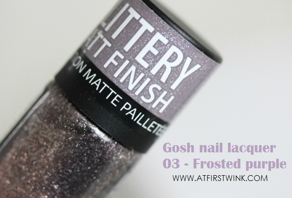 Gosh nail lacquer 03 - Frosted purple