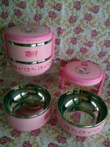 Ompreng stainless Hello kitty, rantang hello kitty,rantang lucu, rantang unik, pernak pernik lucu, pernak pernik, pernak pernik hello kitty, hello kitty collection