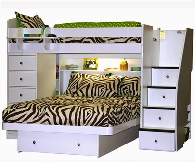 4 Double Bed With Chest And Stairs