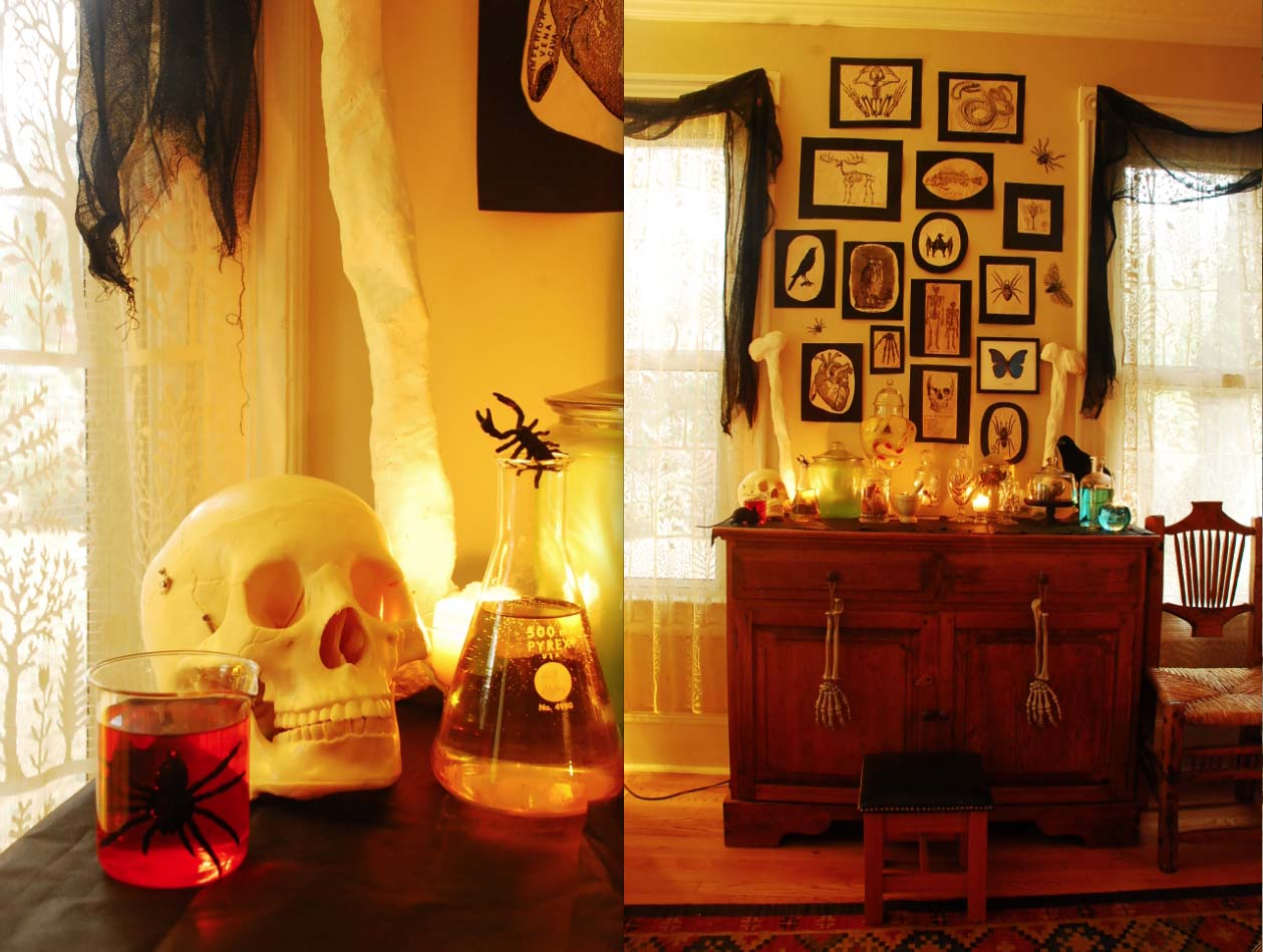 Decorating Ideas > Qmade Spooky Halloween 2012 ~ 053555_Living Room Halloween Party