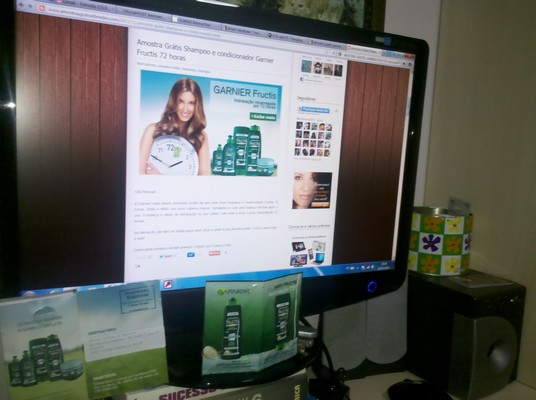 Recebido Amostra Gratis Shampoo e condicionador Garnier Fructis 72 horas