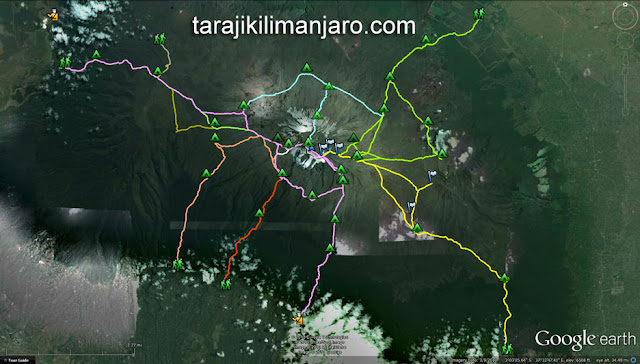 The Many Routes to the Summit of Mount Kilimanjaro!  tarajikilimanjaro.com