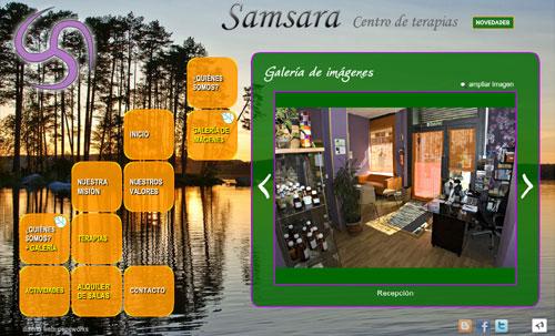 página web del centro de terapias Samsara, en Madrid: alquiler de salas para terapias naturales y terapias alterativas y crecimiento espiritual: fisioterapia, reiki, shiatsu, chi kung, yoga, acupuntura, medicina tradicional china, masajes, pilates, meditación, psicología