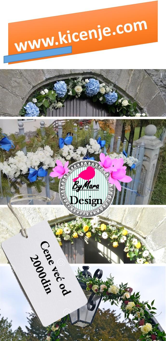 Kićenje kapija, svadbeni venci dekoracija