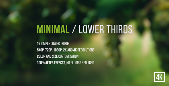 VideoHive Minimal / Lower Thirds