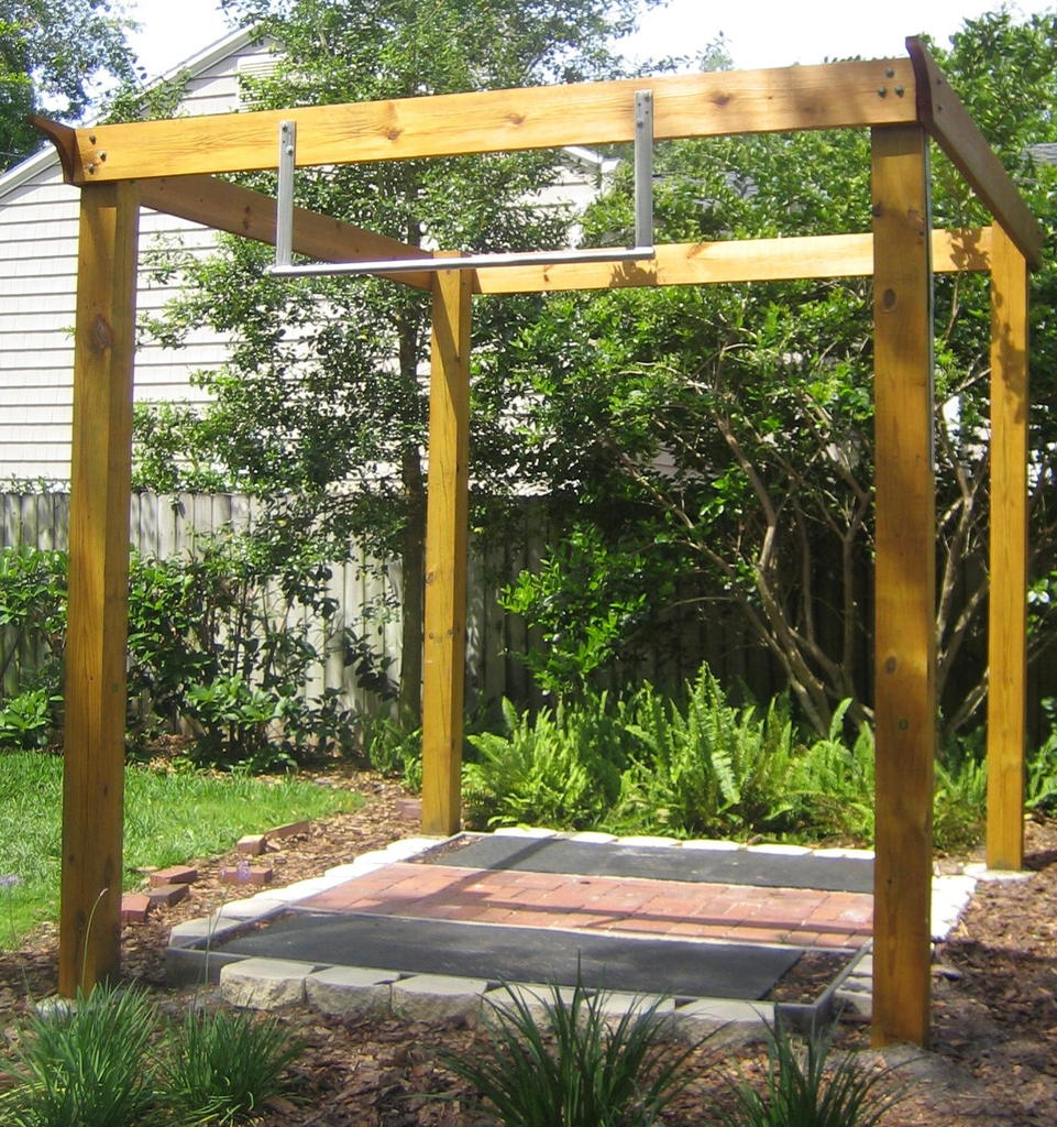 build pull up bar backyard various design inspiration for backyard