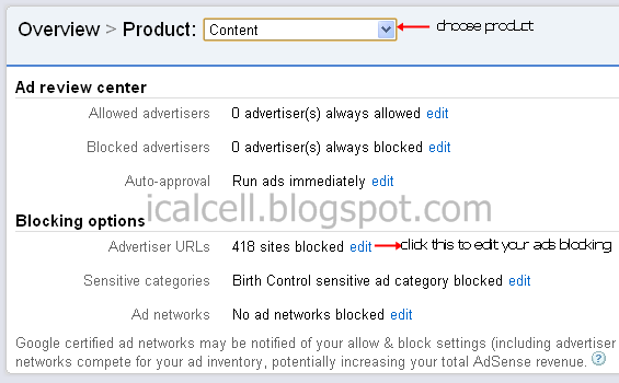 Allow & Block Ads For Content Product