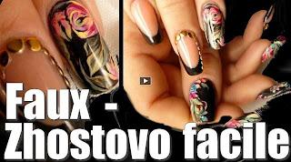 Tutoriel vidéo - Fleurs multicolores inspiration Zhostovo
