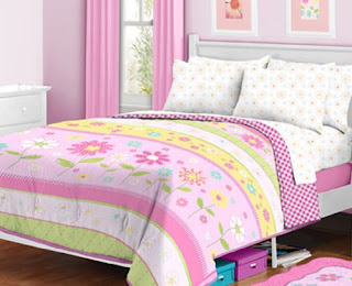 Pottery barn kids pink garden daisy quilt decor look alikes - Pink and yellow comforter ...