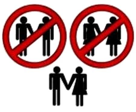 Contra los anuncios de matrimonio gay