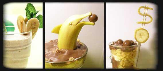 оригинальное украшение из банана