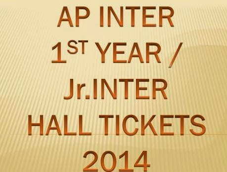 AP Inter 1st Year / Junior Inter Exam  Hall Ticket 2014 March Download at www.bieap.gov.in